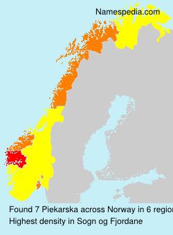 Surname Piekarska in Norway