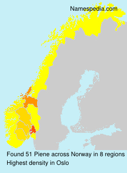 Surname Piene in Norway