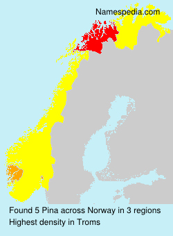 Familiennamen Pina - Norway