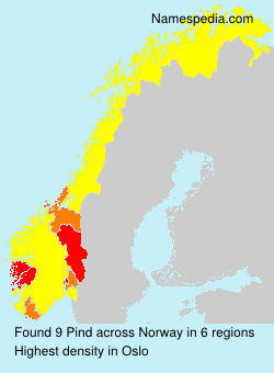 Surname Pind in Norway