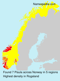 Surname Pisula in Norway