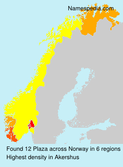 Surname Plaza in Norway