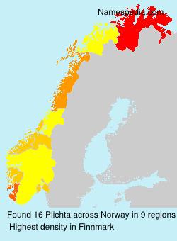 Surname Plichta in Norway