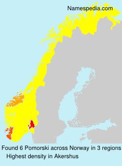 Surname Pomorski in Norway