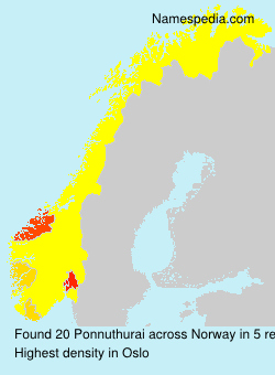 Surname Ponnuthurai in Norway