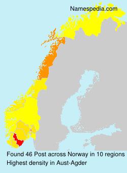 Surname Post in Norway