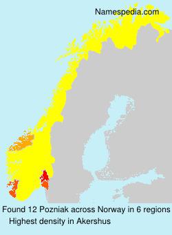 Surname Pozniak in Norway