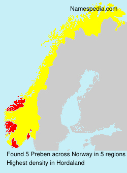 Surname Preben in Norway