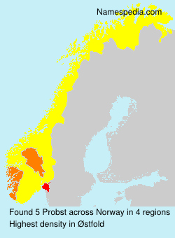 Surname Probst in Norway