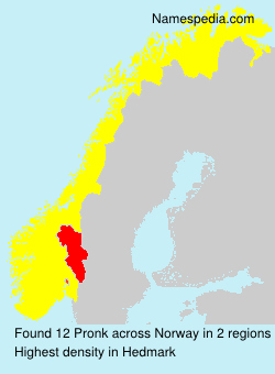 Surname Pronk in Norway