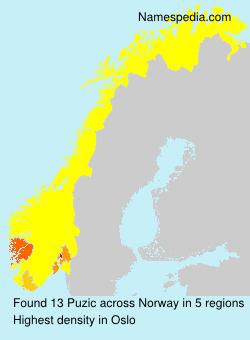 Surname Puzic in Norway