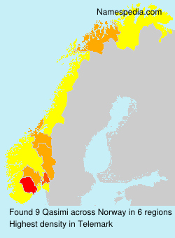 Surname Qasimi in Norway
