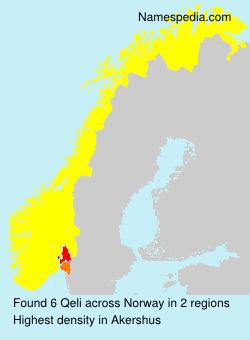 Surname Qeli in Norway