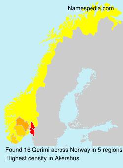 Surname Qerimi in Norway