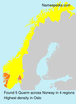 Surname Quarm in Norway