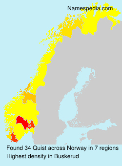 Surname Quist in Norway