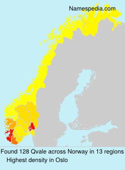 Familiennamen Qvale - Norway