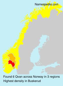 Familiennamen Qvan - Norway