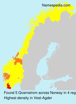 Familiennamen Qvarnstrom - Norway