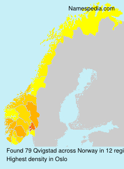 Familiennamen Qvigstad - Norway