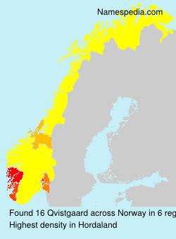 Familiennamen Qvistgaard - Norway