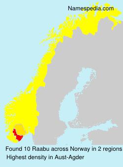 Surname Raabu in Norway