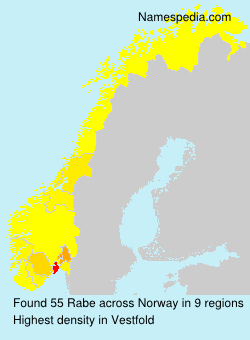 Surname Rabe in Norway