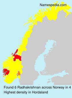 Familiennamen Radhakrishnan - Norway