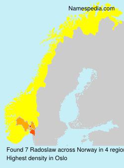 Surname Radoslaw in Norway