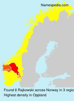 Surname Rajkowski in Norway
