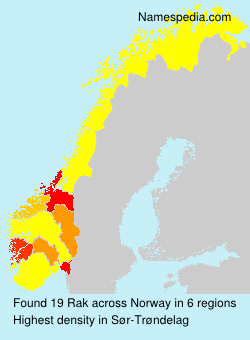 Surname Rak in Norway
