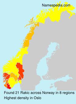 Surname Rakic in Norway