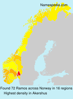 Familiennamen Ramos - Norway