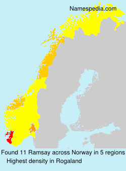 Surname Ramsay in Norway