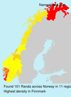 Surname Randa in Norway