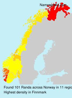 Surname Randa in Norway