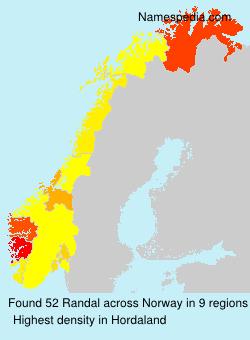 Surname Randal in Norway