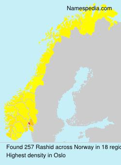 Familiennamen Rashid - Norway