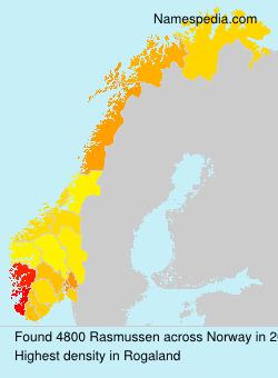 Surname Rasmussen in Norway