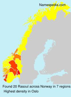 Familiennamen Rasoul - Norway