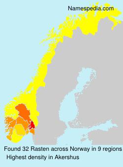 Familiennamen Rasten - Norway