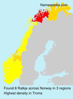 Surname Ratkje in Norway