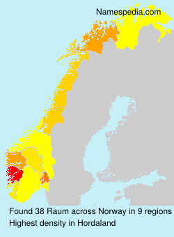 Surname Raum in Norway