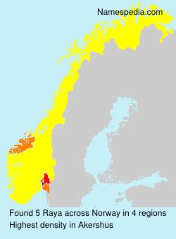 Surname Raya in Norway