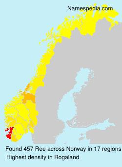 Surname Ree in Norway