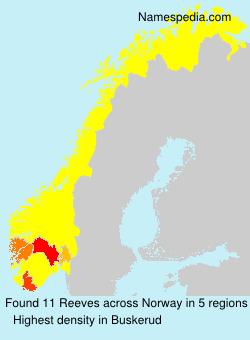 Familiennamen Reeves - Norway