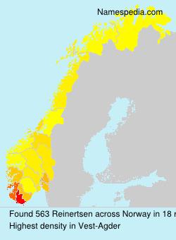 Surname Reinertsen in Norway
