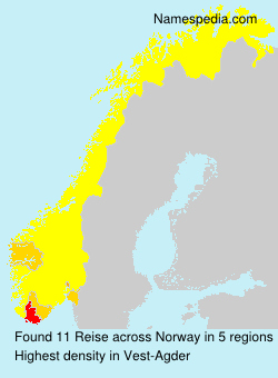 Surname Reise in Norway