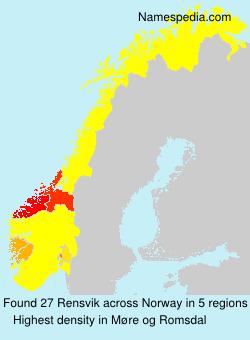 Surname Rensvik in Norway