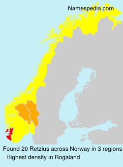 Familiennamen Retzius - Norway